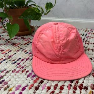 Vintage 80s Neon Pink Snapback Hat Made in USA